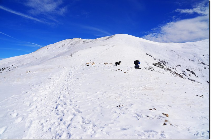 Up the mountain through the footsteps