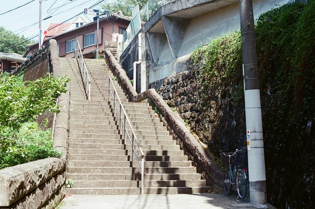 荷蘭坂 長崎 Nagasaki 2015/09/08 階梯一景,在長崎有很多這樣的階梯。  Nikon FM2 / 50mm Kodak UltraMax ISO400 Photo by Toomore
