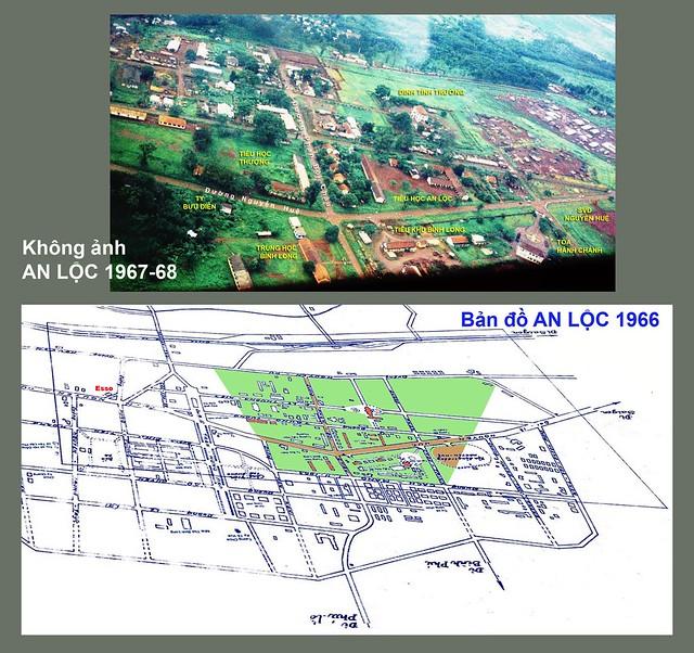 Không ảnh AN LỘC 1967-68 - Bản đồ 1966
