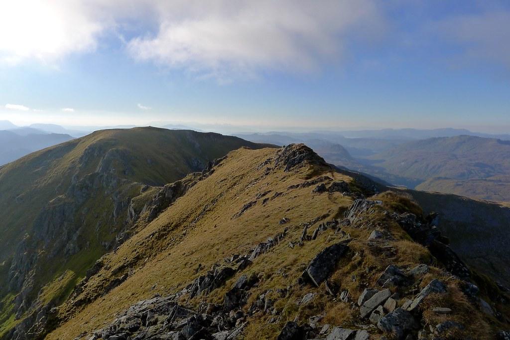 Summit ridge of Sgùrr nan Ceathreamhnan