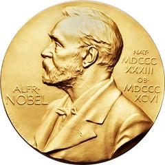 Rous Nobel gold medal obverse