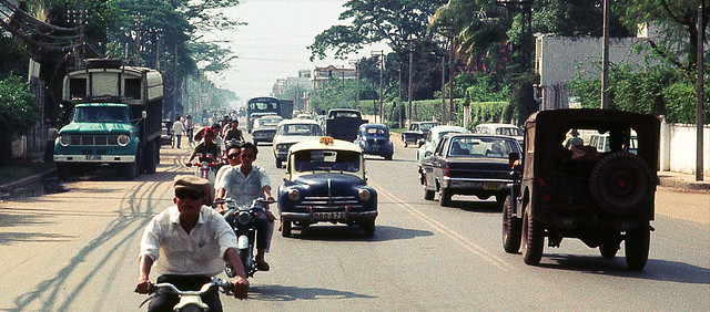 Saigon Oct 1968 - Cong Ly from the back of a 2.5 ton truck