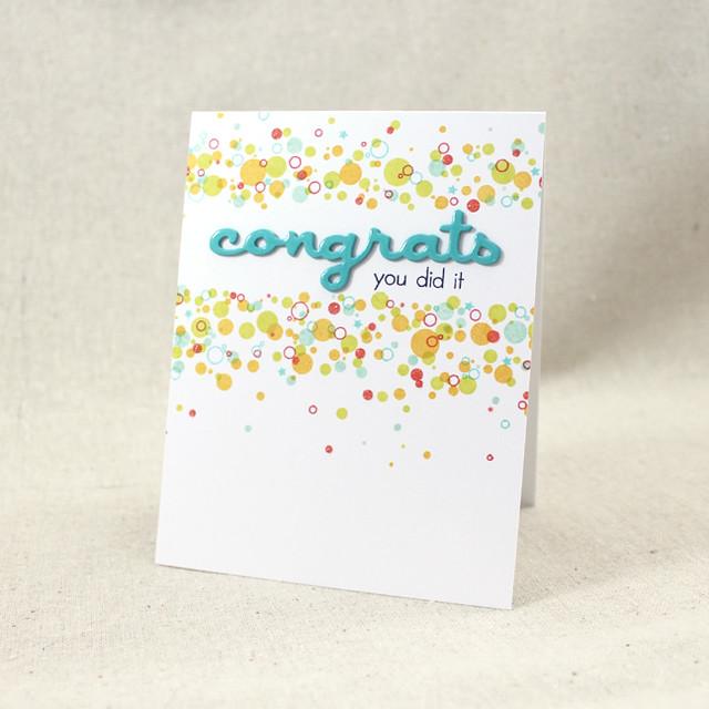 Confetti Congrats Card