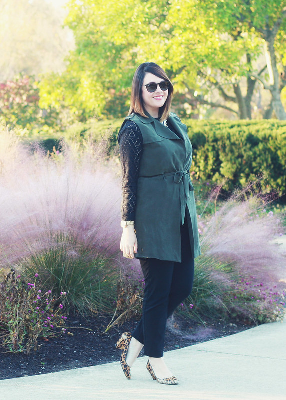 Anthropologie Army Green Vest 5