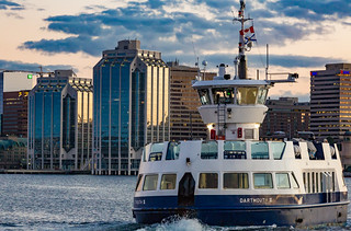 Halifax-Dartmouth Ferry - Halifax Skyline Sunset