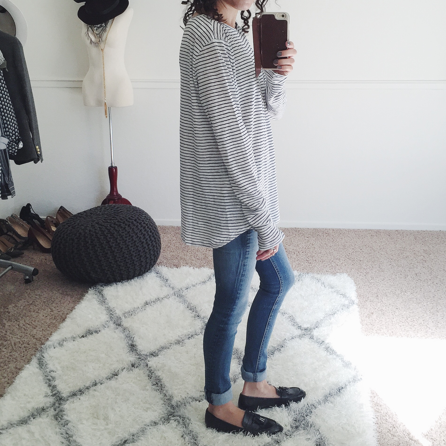 gap stripe linen tee shirt review