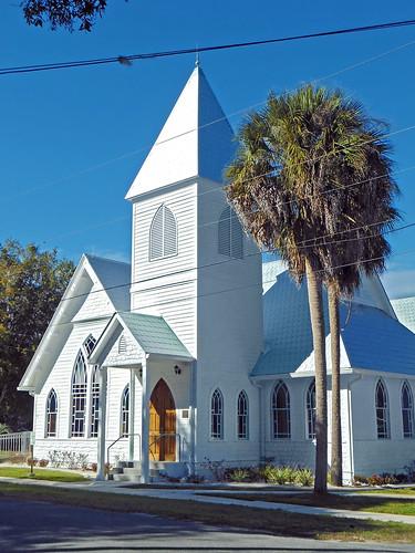 church architecture florida palmtrees gothicrevival dunnellon presbyterianchurch
