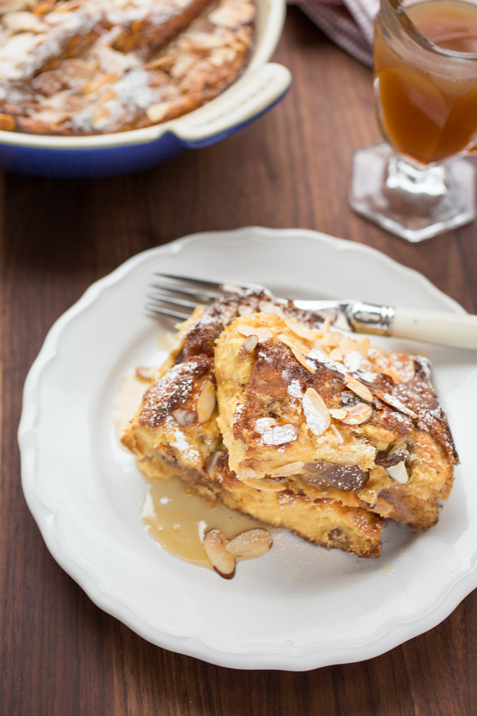 panettone french toast recipe with orange maple butter