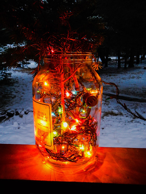 A pickle jar of Xmas lights