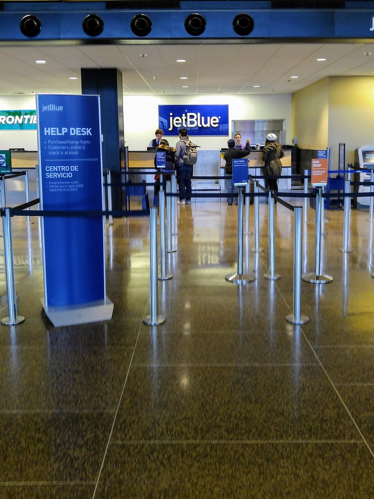 jetblue ticket counter at sea jetblue ticket counter at se flickr. Black Bedroom Furniture Sets. Home Design Ideas