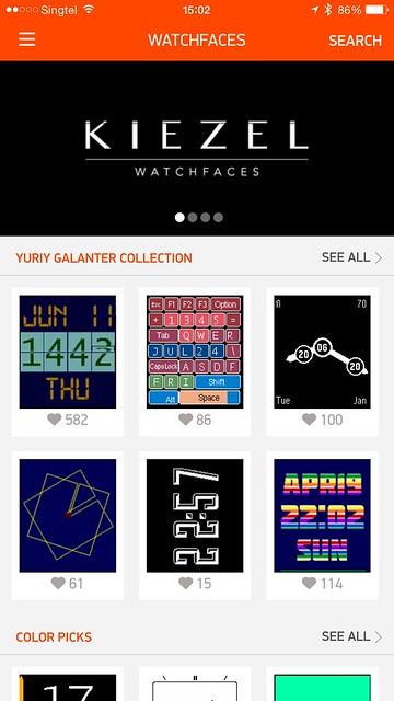 Pebble Time iOS App - Watchfaces