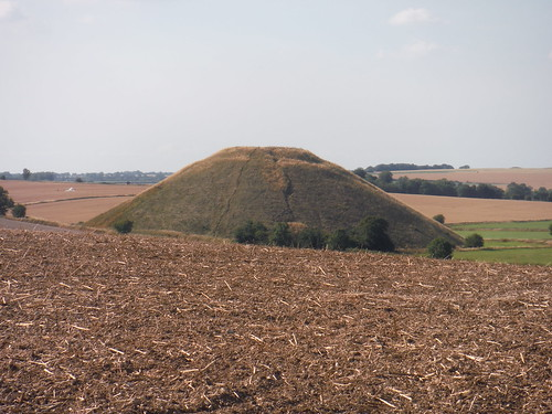 Silbury Hill from West Kennett Long Barrow