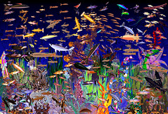 Luminous Plan Transformed  Fractal Fish