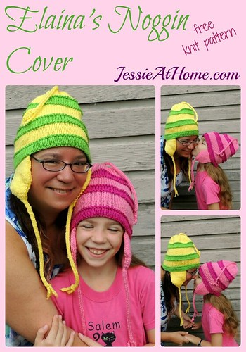 Elaina's Noggin Cover ~ free knit pattern by Jessie At Home
