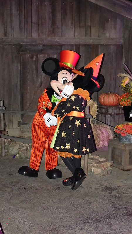 Mickey and Minnie at Disneyland Halloween Party