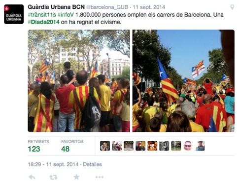 15i12 Diada 2014 Guardia urbana Barcelona