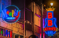 Neon lights on Beale Street in Memphis Tennessee