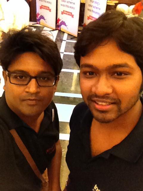 Indrajit and Karthik DR - Berger Express Painting IndiBlogger Meet 2015 at The Oberoi Grand, Kolkata