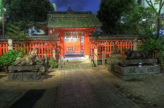 Suikyo-Tenmangu Shrine or Tenjin, Fukuoka on OCT 27, 2015 (4)
