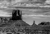 Monument valley under the blue sky by DigiDreamGrafix.com