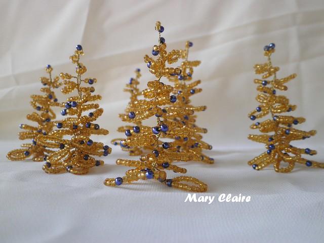 alberelli oro e perle blu2