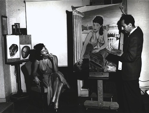 Pandora and the Flying Dutchman - backstage - Ava Gardner & Man Ray - Photo 1