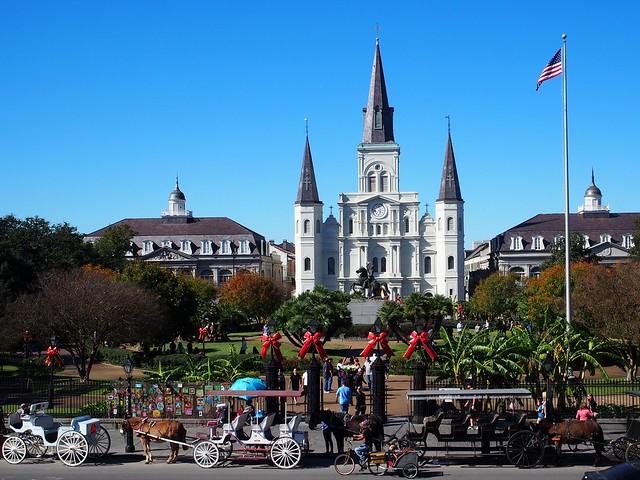 New Orleans und Bahnfahrt nach Texas