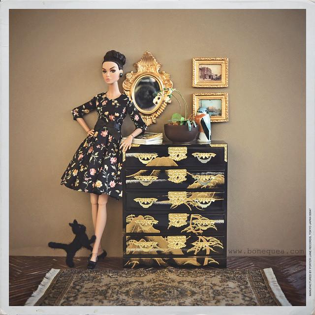 Diorama con gato: Joyous Celebration Poppy Parker