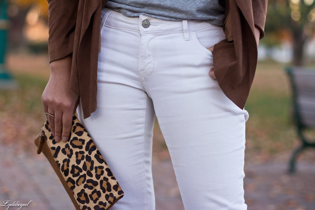 white denim, grey tee, draped jacket, leopard clutch-8.jpg