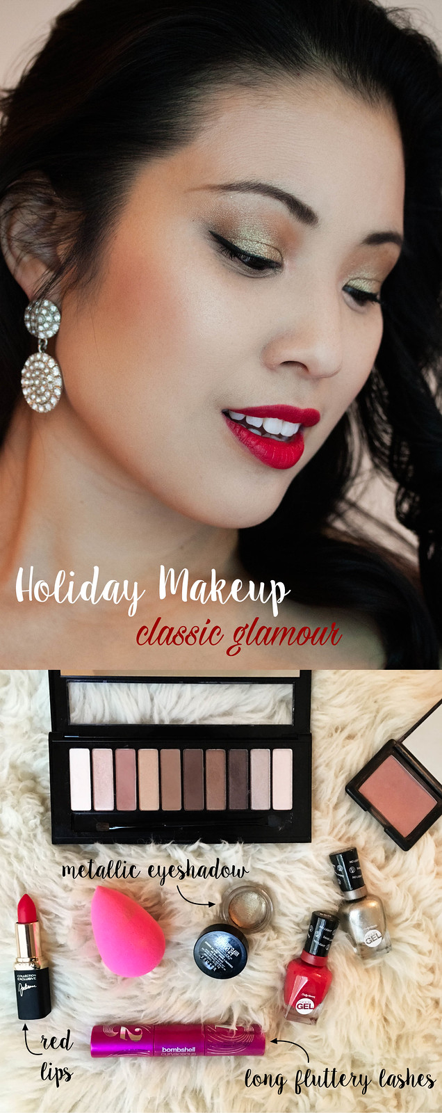 Holiday makeup tutorial: classic glamour makeup
