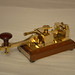 Nice Quality made in Japan by HI-MOUND HK-802 MORSE CODE TELEGRAPH KEY, Solid brass construction