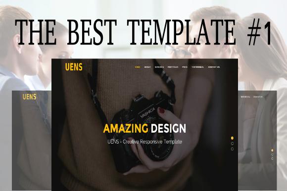 Creativemarket Uens - Creative Responsive Template
