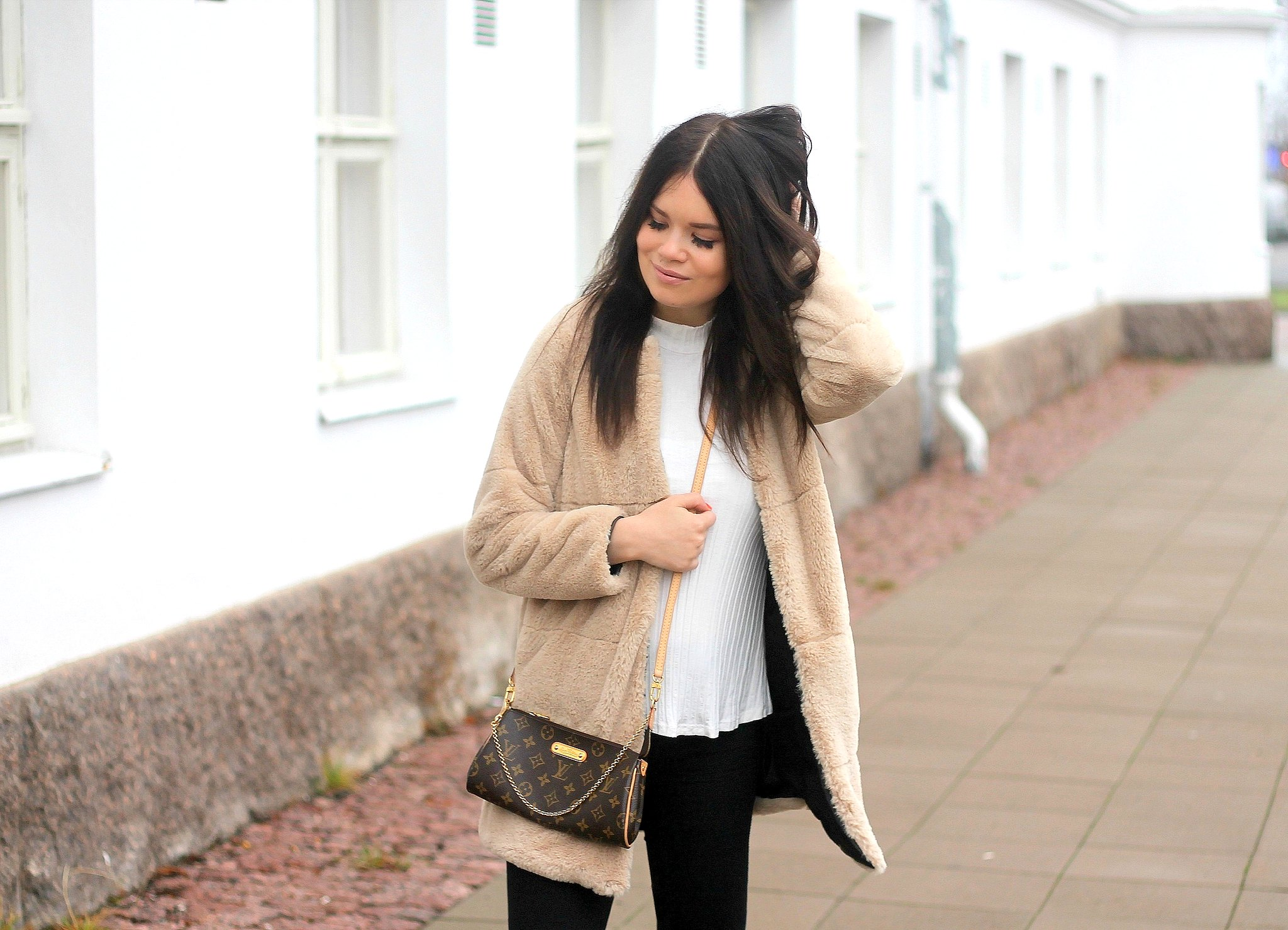 furry jacket outfit