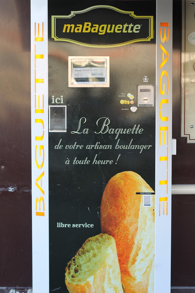 Only in France: a baguette vending machine