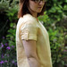 Paprika Patterns Onyx Shirt, Double Gauze Dyed with Biden Flowers