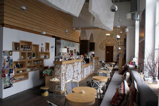 Café et boutique du musée ethnographique de Varsovie