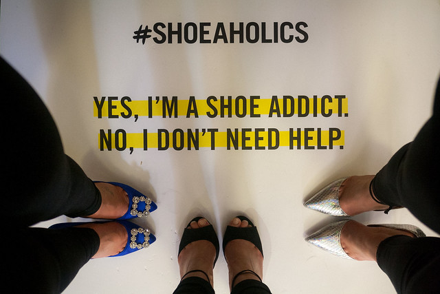 #shoefie at the Shoeaholics stand, Big Blogger Conference