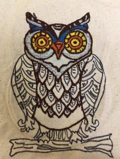 Punch Needle Owl (Back)