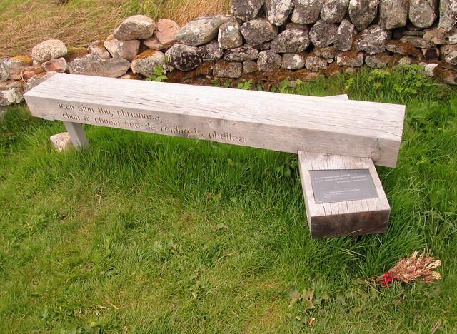 Culloden Memorial Bench