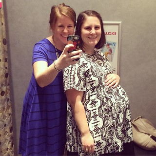 Maternity shopping adventures. Hilariously awful. Don't worry, this tent didn't come home with us. And I'm wearing the seven month bump they leave in the dressing rooms.