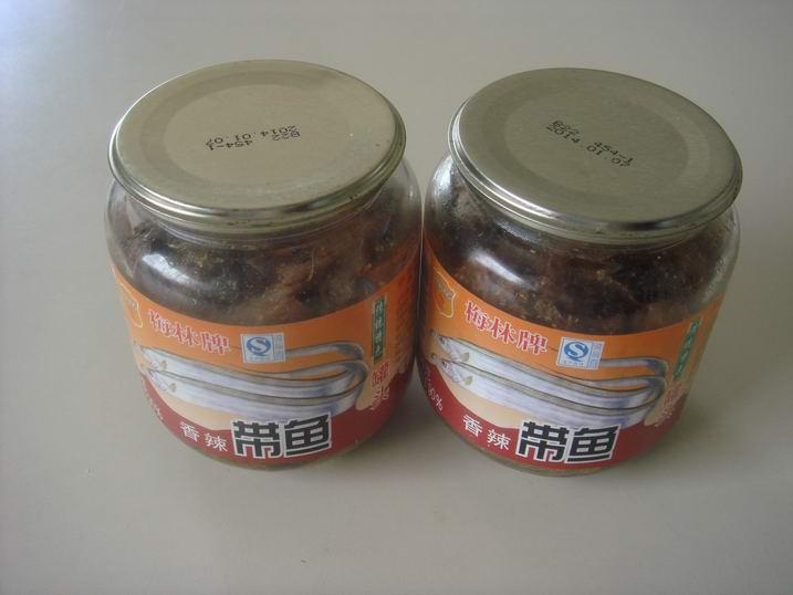 梅林香辣带鱼罐头