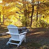 Pull up a chair and enjoy this gouresous day! #NewEngland #nhinstagram #fall #lovenewengland #lovethefall #leaveschanging #fallllbeancontest #leafpeeping #countrystyle #countryliving #ll