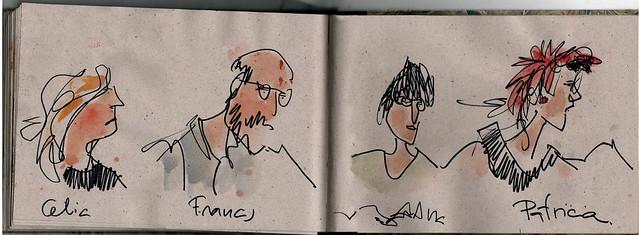 Reunión de dibujantes,...