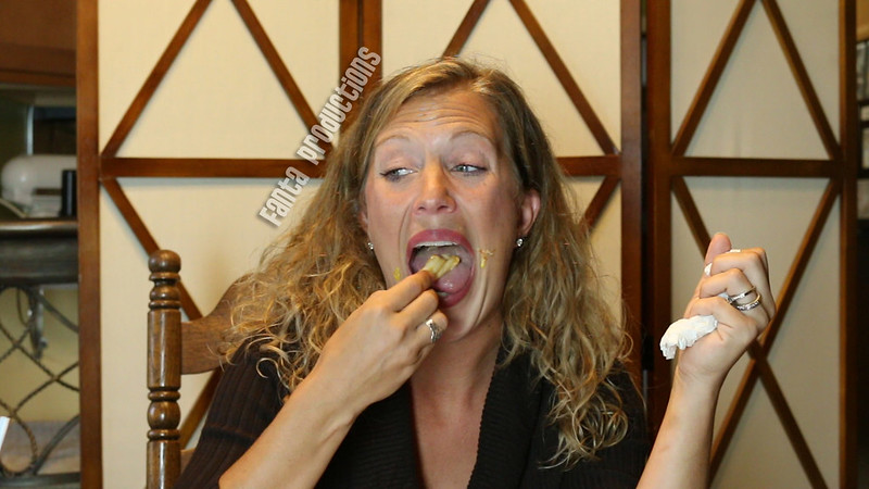 Laney Eats a Messy Sandwich & Fries