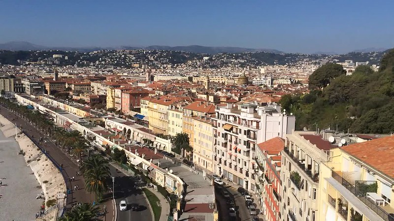 View of Nice from Colline du Chateau.