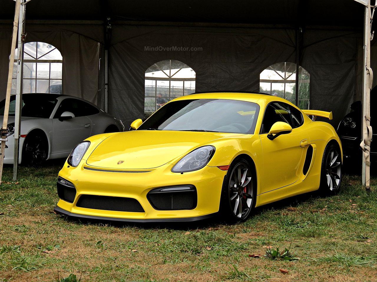 Radnor Hunt Porsche Cayman GT4 Yellow