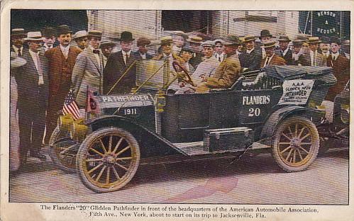 Flanders Glidden Pathfinder Postcard Front