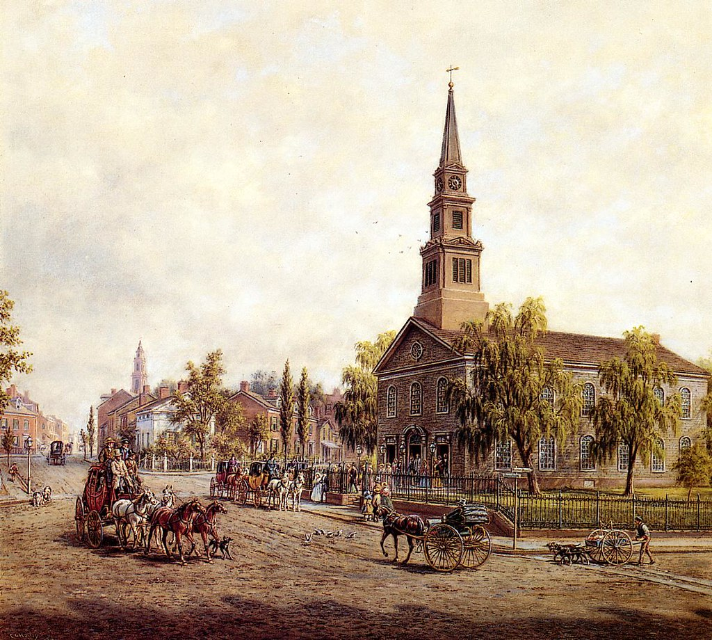 St. Mark's in the Bowery in the Early Forties by Edward Lamson Henry - 1917