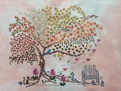 Summer (Autumn) Tree of Stitches Complete!