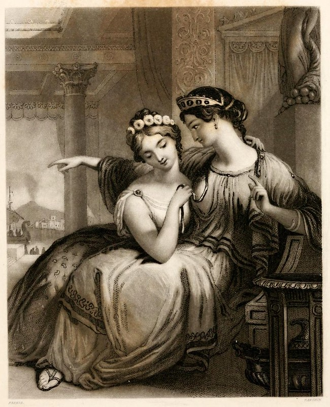 018-Las hermanas romanas-Friendship's offering 1848- grabador John Sartain